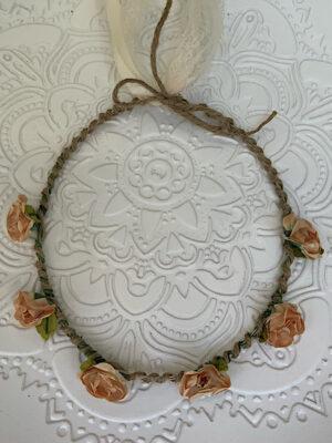 Στεφανάκι με μόκα λουλούδια